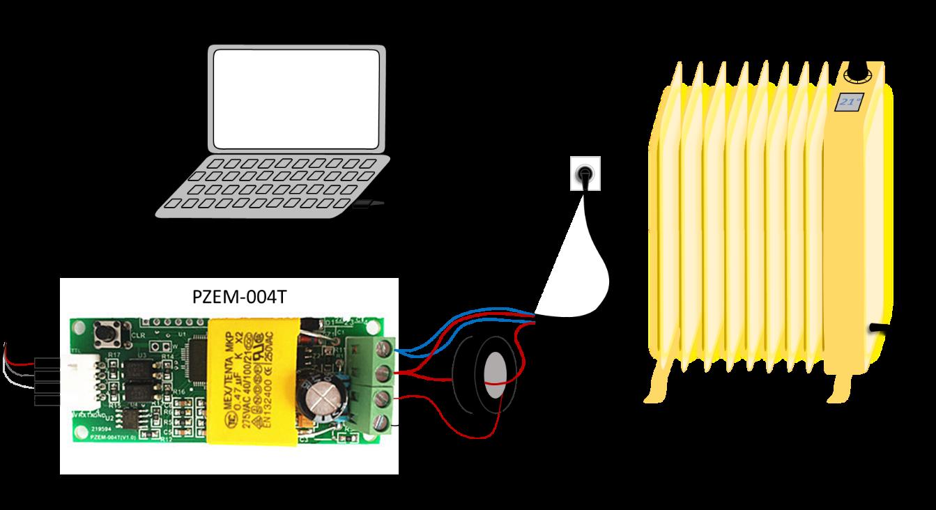 Schéma de montage du compteur PZEM